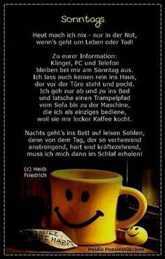 Sonntag Sprüche Zitate | GUTEN MORGEN , GUTEN TAG | Good morning