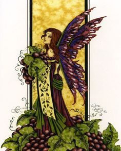 Wine Queen Fairy Print by Amy Brown. Measures 8-1/2 x 11 inches... Out of Print... very few remaining in stock.