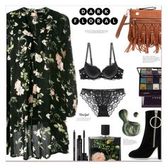 """""""In Bloom: Dark Floral"""" by mycherryblossom ❤ liked on Polyvore featuring Victoria Beckham, Off-White, Illamasqua, Rodial, By Terry and Nest Fragrances"""