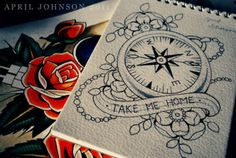 i would also love a compass tattoo if someone wants to fund me