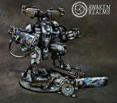 Warhammer 40k | Tau | Stormsurge Battlesuit with arms conversion by awaken realms #wh40k #warhammer #40k #40000 #wh #gw #wellofeternity #gamesworkshop #miniatures #wargaming #hobby #Tau #awakenrealms #propainted
