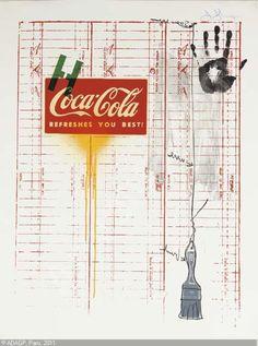 Jasper Johns - Coca Cola and Grid Jasper Jones, James Rosenquist, Neo Dada, Pop Art, Modern Art, Contemporary Art, Growth And Decay, Robert Rauschenberg, Roy Lichtenstein