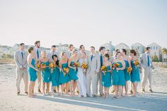 Bridal party on the beach at Wild Dunes Resort | Photo by Shannon Michele Photography