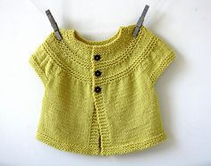 In Threes: a baby cardigan pattern by Kelly Herdrich
