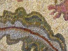 Karen Kahle & her use of marbleized wool for  the soft & diverse color variations she gets in her rugs!