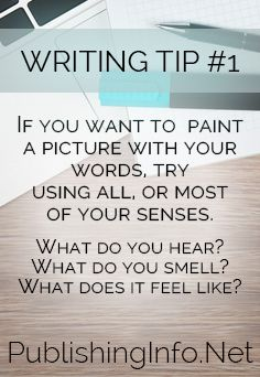 Writing Tip #1 from PublishingInfo.Net