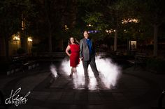 Night time photography engagement session!  Shot by High Gravity Photography