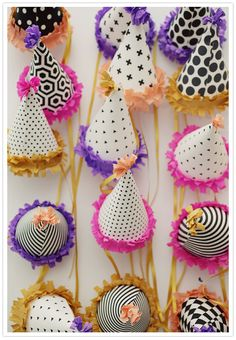 girly birthday party hats -