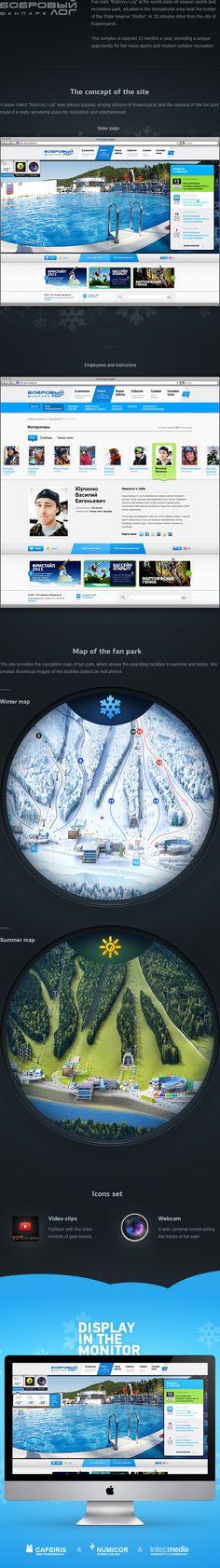 Fun park «Bobrovy Log» by Eugen Dolgov, via Behance