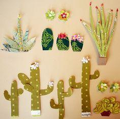 Paper cactus via Tara Anderson