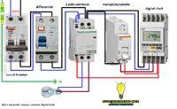 Esquemas eléctricos: more automatic manual contactor digital clock