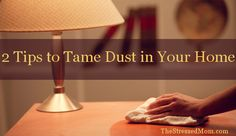 Tips for getting rid of dust http://thestressedmom.com/2013/01/2-tips-to-tame-the-dust-in-your-home/