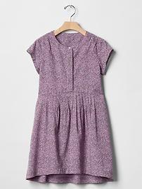 Mini floral pintuck-waist dress