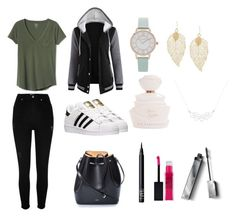 """""""Untitled #9"""" by sofia-arizpe on Polyvore featuring Gap, River Island, adidas, N°21, A Weathered Penny, Olivia Burton, NARS Cosmetics, Maybelline and Burberry"""