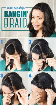 18 ways to pin back bangs! Mine are in that awkward stage- too long to wear in front but too short to pull back. Some great ideas in here!