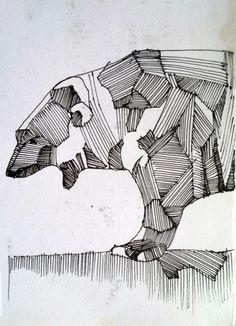 lined animals by Kristina Voitechovskaja, via Behance