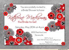 Bright Poppy Wedding Shower Invitation