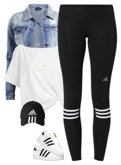 """Adidas*"" by thatchickcrazy on Polyvore featuring VILA, Red Herring, adidas and Yves Saint Laurent"