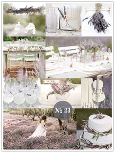 Lavender for Lovers theme. You could totally incorporate the lace that you like into this too. it would be so beautiful.