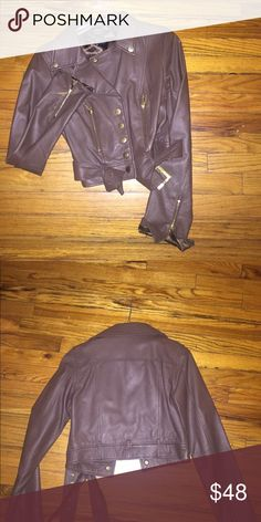 Brown motorcycle leather jacket Arden b brown motorcycle leather jacket Arden B Jackets & Coats