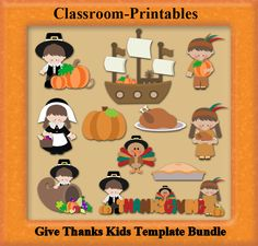 Clipart Templates for Scrapbooking.    Give Thanks Clipart Template Bundle. For Digital Scrapbooking, Clipart, Creating Cards & Printables.    Comes PSD Format  For Use in Photoshop and Graphics Programs