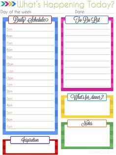 Great resource for free daily planner printables...perfect way to make your own DIY paper planner!