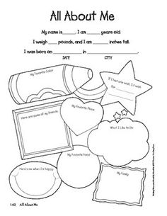 All About Me Worksheet Tims Printables worksheet