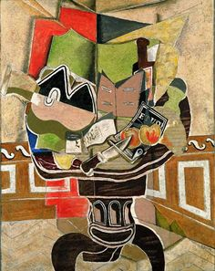 George Braque - Nature morte au guéridon noir, 1929