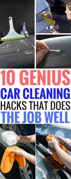10 Car Cleaning Hacks - Tips And Tricks to clean your car the right way and get rid off all that nasty dirt in hard to reach places. Great for making sure your car becomes spotless!