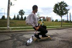 KickStick is a skateboarding wizard staff that works like a motorized oar