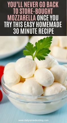 You'll Never Go Back To Store-bought Mozzarella Once You Try This Easy Homemade 30 Minute Recipe - Health Recipes How To Make Cheese, Food To Make, Making Cheese, Cheese Recipes, Cooking Recipes, Mozzarella Cheese Recipe, Pizza Recipes, Fromage Vegan, Healthy Snacks