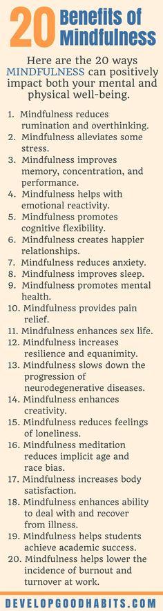 20 Benefits of Mindfulness | How to Practice mindfulness | Mindful Meditation