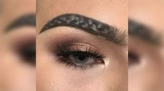 """It's been just about a week since the Great Squiggle Brow Phase of 2017, but somehow there's already a new eyebrow trend taking over Instagram. """"Braided"""" eyebrows have officially trumped the squiggle brow. The catch? They're Photoshopped. SEE ALSO: Thanks to 'squiggle brows"""