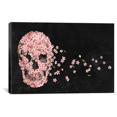 "A Beautiful Death Landscape by Terry Fan Canvas Print (12""x 18""), Black Pink Green"