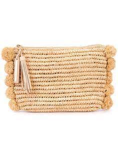 Shop Loeffler Randall straw clutch .