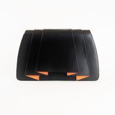 Janssen clutch folded black – My Dutch Designer bags