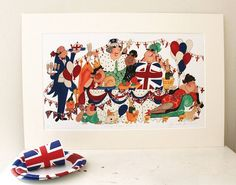 A Right Royal Knees Up Print - Not On The High Street Price: £68