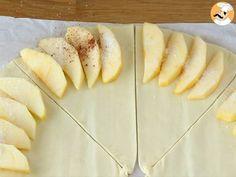 Folhados de maçã rápido - Preparação Passo 3 Mini Empanadas, Calories, Nutrition, Crepes, Dairy, Potatoes, Sweets, Vegetables, Portuguese