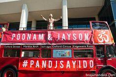 Double-decker bus baraat!; #indianwedding  shaadishop.co PC: Braja Mandala Wedding Photography