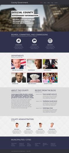 Government Responsive Website Template  #Responsive #Government #Template