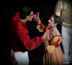 Dorothee Gilbert and Hugo Marchand in Nureyev's 'Romeo et Juliette', Paris Opera 2016. Photo by Isabelle Aubert