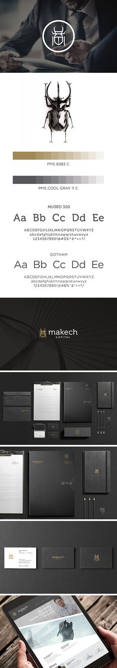 Makech Capital | Investment Fund Identity by Designcenter TM / Mexico