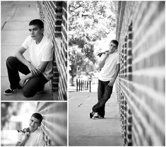 Black and white senior portraits using shallow depth of field and leading lines by Karen Laine Photography in Reno, Nevada.