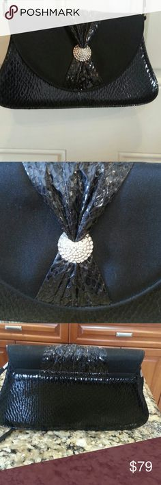 Purse Shoulder strap dress purse with Rhinestone pin. New without tags J. RENEE Bags Shoulder Bags