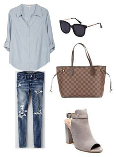 """""""Untitled #574"""" by bubblez-325 ❤ liked on Polyvore featuring Steve Madden, American Eagle Outfitters, Joie and Louis Vuitton"""