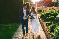 Groom wears a navy suit with pink waistcoat and bowtie. Images by Aga Tomaszek Photography Groom Wear, Groom And Groomsmen, Wedding Suits, Our Wedding, Wedding Dresses, Moss Bros, Wedding Breakfast, Groom Style, French Lace