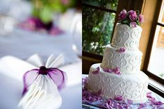 Wedding, Cake, Purple, Napkins, Embrace life photography