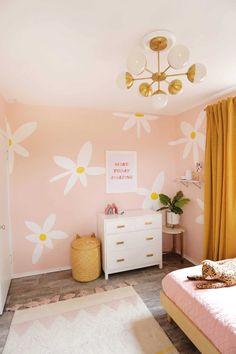Lola's Painted Daisy Wallpaper