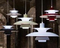 Dining table lighting. Mid-century Louis Poulsen design.
