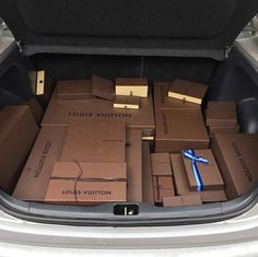 Louis Vuitton Boxes in the Trunk                                                                                                                                                     More